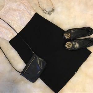 H&M black high waist pencil skirt